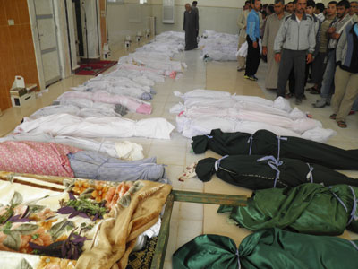 Syrian government denies involvement in Houla massacre