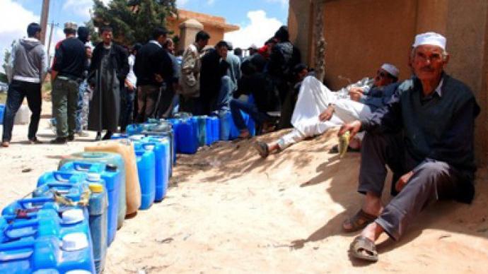 NATO attacks ordinary Libyans at petrol pump