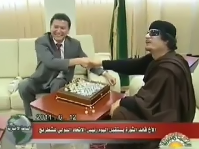 """Gaddafi is ready for unconditional talks"" - chess envoy"