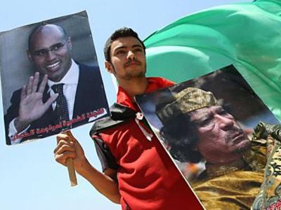 Model fired for Gaddafi sympathies