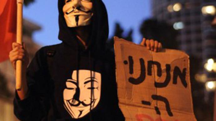 Anonymous warns Israel: 'No one cuts internet on our watch!'