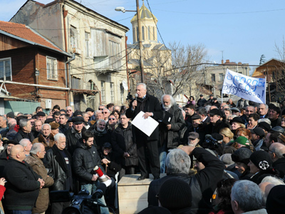 Protesters thwart Georgian president's annual address (VIDEO)