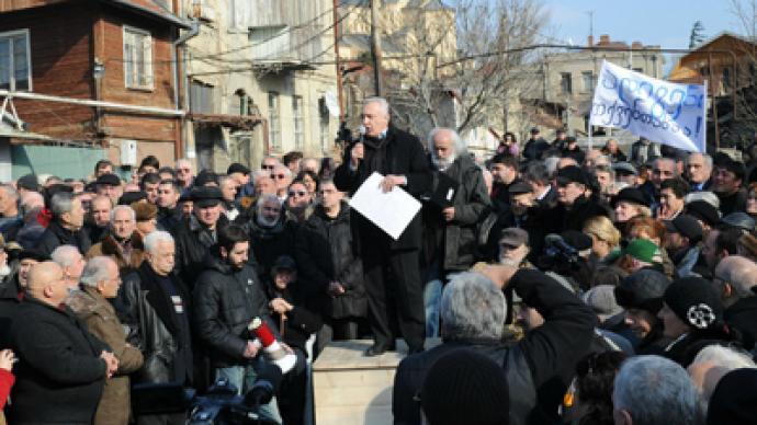 Thousands rally in Georgia demanding Saakashvili's resignation