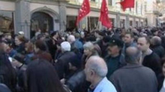 Georgian opposition demo in Tbilisi