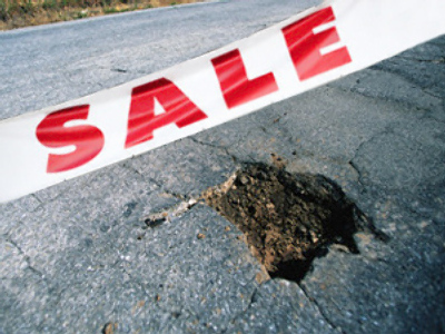 German town to sell potholes