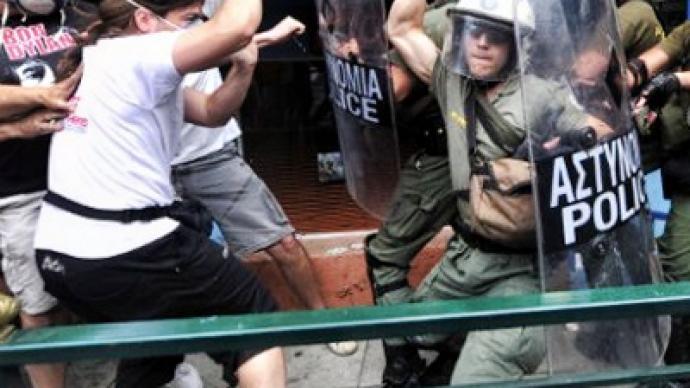 Greeks fighting austerity trap