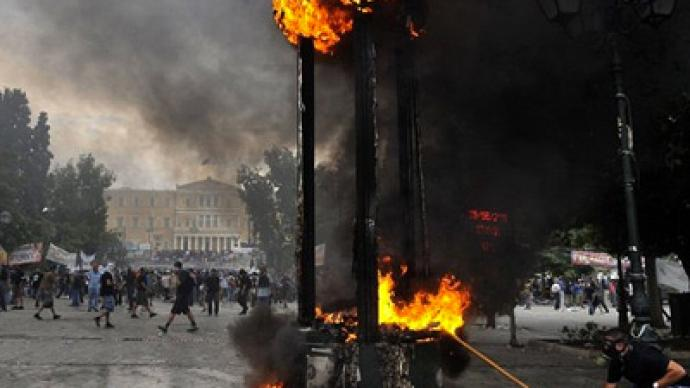 Greek tension after passage of new austerity law