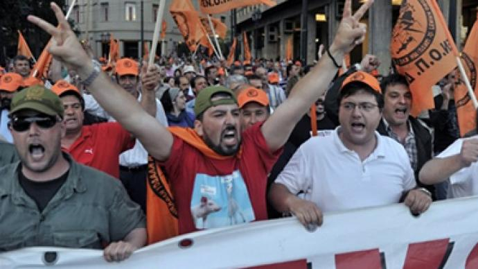Default looms over protest-ridden Greece