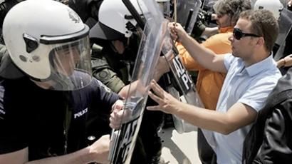 Default looms over protest-ridden Greece