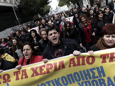 Greek parties agreed to seek bailout revision