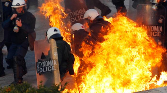 Greek police fire tear-gas at protesters (VIDEO, PHOTOS