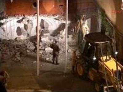 Greek Cypriots demolish wall separating Turkish side in Nicosia