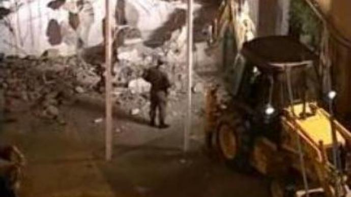 Greek Cypriots demolish wall separating Turkish side in Nicosia