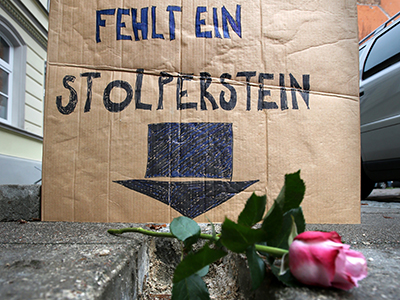 Memorial artwork in German town vandalized on Kristallnacht anniversary