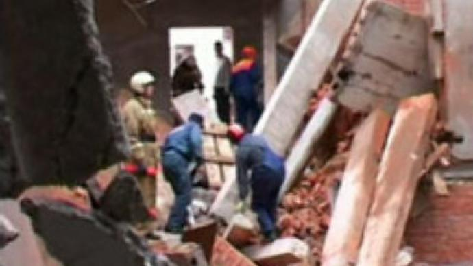 Half-built hotel collapses in central Russia