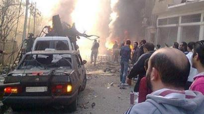87 dead in two rocket explosions at Aleppo University as students take exams