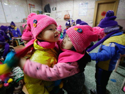 Embrace capitalism! Chinese kindergarten charges parents 'hug fee'