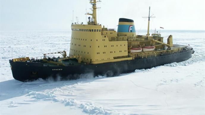 Breaking ice: trapped ships finally moving