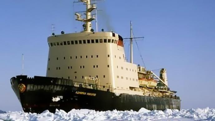 Icebreakers saving ships stranded in Russia's Far East