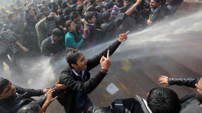 Protesters clash with police in Indian capital over brutal gang-rape