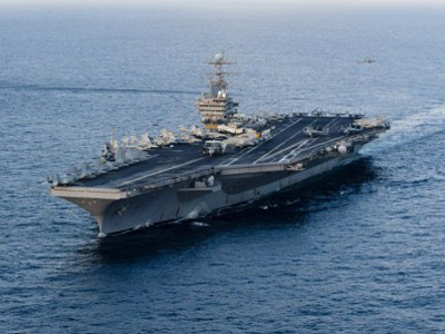 Iranian navy shadows USS Abraham Lincoln through Hormuz Strait