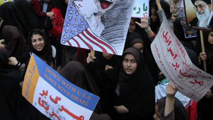 Iranians burn American flags, chant 'death to US' to mark embassy seizure (PHOTOS)