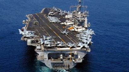 US aircraft carrier sails through Strait of Hormuz
