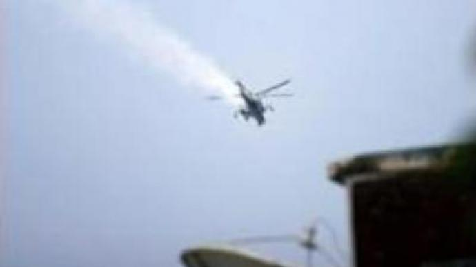 Islamic militants shoot down helicopter gunship in Somalia