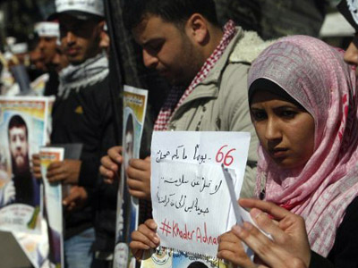 3,500 Palestinian prisoners in Israel on hunger strike