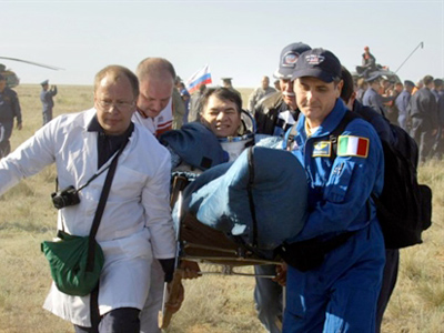 Soyuz rocket blasts off into orbit