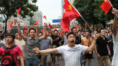 Chinese protesters attack Japanese embassy in Beijing over island dispute