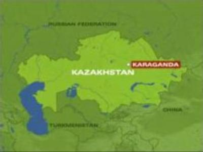 Kazakh jet trainer crashes