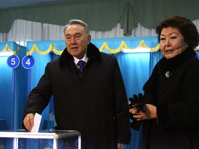 Threesome for new Kazakh parliament