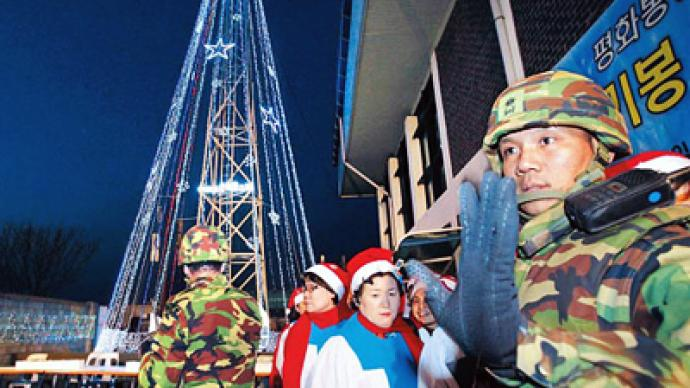 Christmas Trees on North Korean border are 'psychological warfare'