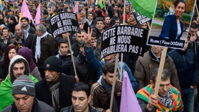 France under fire from PKK and Turkey as thousands protest Kurdish women's murder