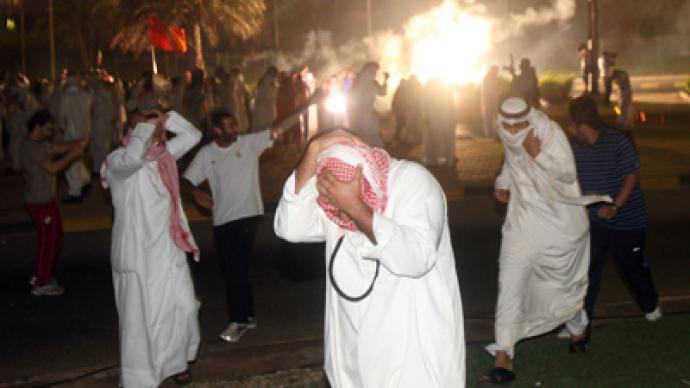 Teargas and truncheons: Kuwait police clash marchers in mass protest
