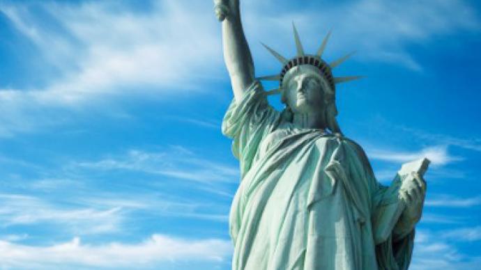 Taking a liberty: Iconic statue hijacked