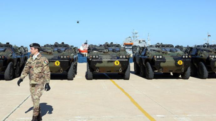Military forces from Italy, Qatar in Libyan port ahead of revolution anniversary