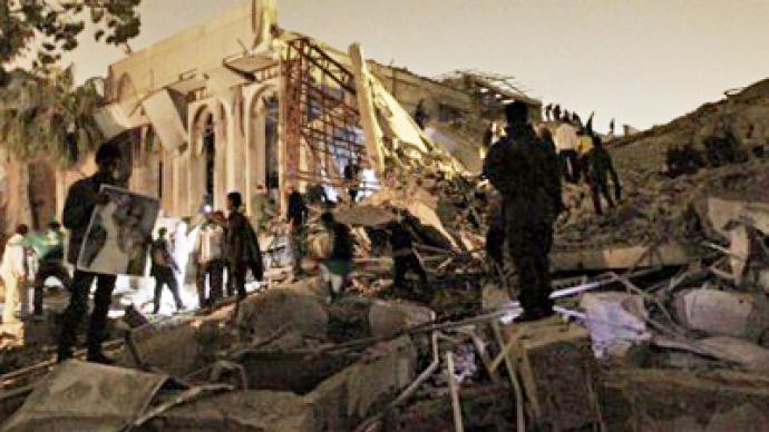 NATO hits Gaddafi compound as violence escalates in Libya