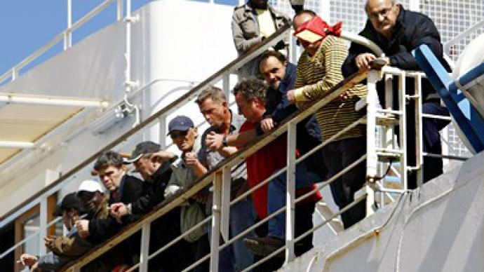 Russians evacuated from Libya reach Malta on ferry