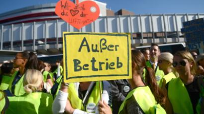 Protests disrupt 1,755 Lufthansa flights