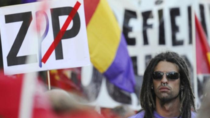 Spaniards take to streets to protest austerity measures