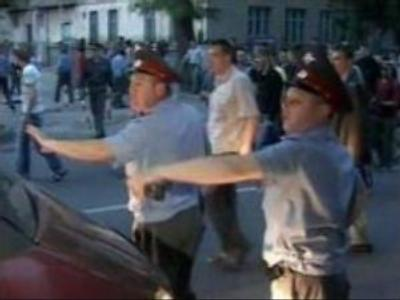 Mass demonstration in southern Russia turns violent