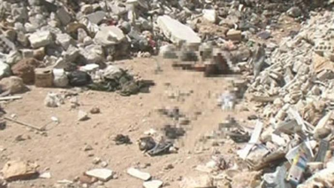 Horrors of war: Mass grave discovered in Damascus (GRAPHIC PHOTOS)