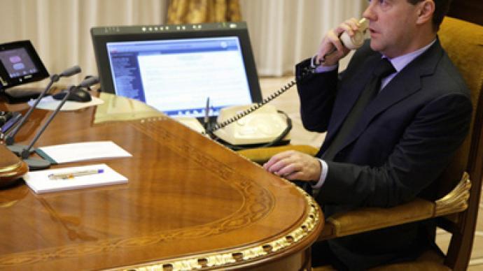 Medvedev talks to Ahmadinejad prior to Middle East visit