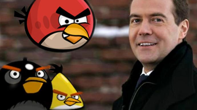 Medvedev not so angry with Angry Birds