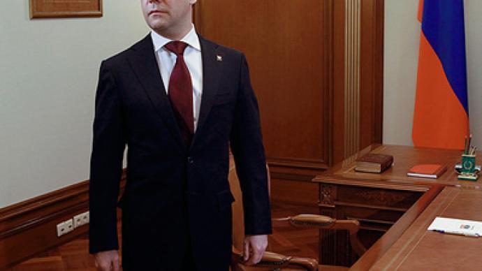 Medvedev calls to stop conflict in Libya