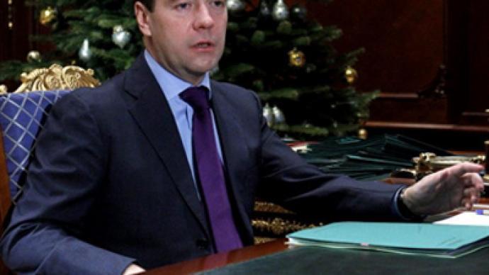 Medvedev praises progress on New START as a major achievement of 2010