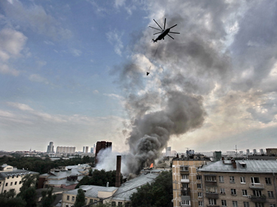 Firefighters extinguish St. Petersburg's largest fire in decades (PHOTOS)