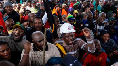 Digging a hole? 12,000 S. African striking miners sacked 'in absentia'